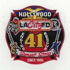 California Los Angeles Hollywood Sunset Strip Engine Rescue 41 Patch