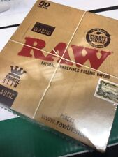 Raw Classic Kingsize Rolling Papers Full Case x 50 Booklets Free Delivery £15.99