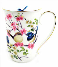 Fine Bone China Blue Wren Coffee Tea Cup Mug Australian Bird Series