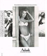 PUBLICITE ADVERTISING 074  1991  AUBADE    lingerie de femme sous vetements
