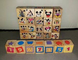 Wooden  Snake Puzzle and 27 Blocks Variety, Disney etc., Alphabet Numbers