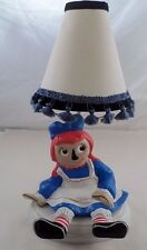 Cute 1970s Holland Mold Ceramic Brightly Colored Raggedy Ann Table Bedside Lamp