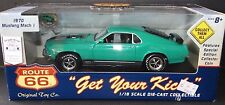 Route 66 1970 Ford Mustang Mach 1 1:18 Scale Die Cast Model Muscle Car Green
