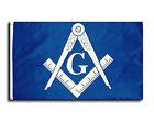 Masonic 3x5 Polyester Flag - With Blue Background and White Freemasons Symbol