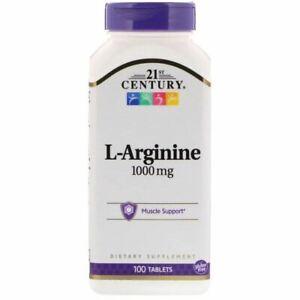21st Century, L-Arginine, 1,000 mg, 100 Tablets