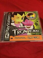 The Misadventures of Tron Bonne PS1 complete CIB With Mega Man Demo Disc