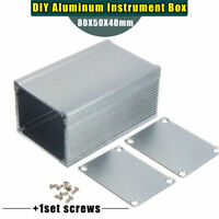 130*120*103 Silver Aluminum PCB Instrument Box Enclosure Electronic Project DIY