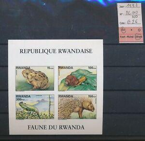 LN84100 Rwanda 1998 wildlife animals imperf sheet MNH cv 26 EUR
