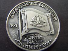 1971 Mid-City SALUTATIONS LOUISIANA .999 Silver Oxide HiRelief MardiGrasDoubloon