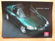 HONDA CRX COUPE orig 1996 UK Mkt Glossy Sales Brochure prospekt