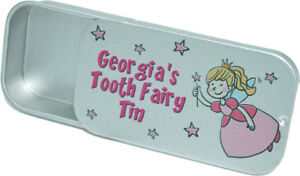 Personalised Cute Tooth Fairy Sentimental Childs Girls Boys Box Tin Gift