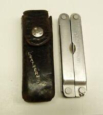 LEATHERMAN FOLDING MULTITOOL POCKET KNIFE: PST II & LEATHER CASE -B26#17