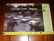 1983 JEEP WAGONEER - MERCEDES BENZ 300TD - VOLVO TURBO - ORIGINAL ARTICLE