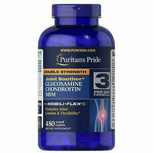 Puritans Pride Double Strength Glucosamine, Chondroitin and Msm, 480 Caplets