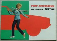 FORD CORTINA ACCESSORIES Car Sales Brochure Oct 1970 #RM 15 5 TJ