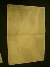 Vintage Admiralty Chart 1885 BAY OF BENGAL - AKYAB HARBOUR 1954