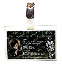 Harry Potter Death Eater Bellatrix Lestrange ID Badge Cosplay Costume Comic Con