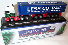 EDDIE STOBART SCANIA R440 HIGHLINE SKELETAL H6443 OLIVE ST CLAIR 1:76 New Boxed