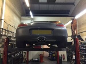 PORSCHE BOXSTER CUSTOM STAINLESS STEEL EXHAUST SYSTEM