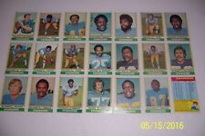 1974 Topps SAN DIEGO CHARGERS Complete Set JOHNNY UNITAS Deacon JONES Coy BACON