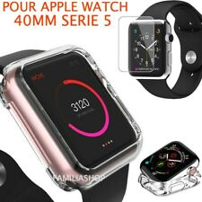 Case Transparent Protection Silicone Apple Watch Series 5 40MM+Tempered Glass
