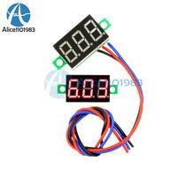 3 Wires 0.36″ DC 0-30V LED Panel Voltage Meter 3-Digital Display Voltmeter Red