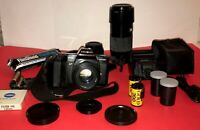 Minolta Maxxum 5000 Bundle-Lenses, Flash, Camera Bag plus accessories
