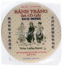 Vietnamese Spring Roll Rice Paper Wrapper Three Ladies Gluten Free 12 Oz.(2-pk)
