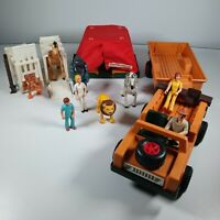 Vintage 1975 Fisher Price Adventure People Wild Animal Safari Jeep Set RARE 304