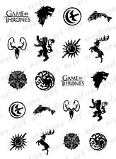 20 NAIL DECALS * GAME OF THRONES HOUSE SIGIL / CRESTS * WATER SLIDE NAIL DECALS