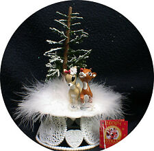 Rudolf Reindeer Winter Wonderland Wedding Cake Topper Christmas Clarice Snow top