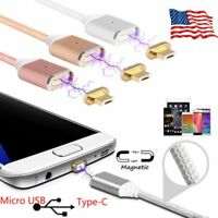 Magnetic Type-C Micro USB Fast Charging Charger Cable for Samsung Android LG Lot
