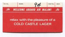 AIR MALAWI BOARDING PASS CARD