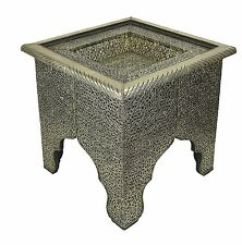 Square Moroccan Silver Coffee Table - W48 D48 H40 CM