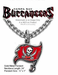 TAMPA BAY BUCCANEERS NECKLACE STAINLESS STEEL CHAIN NFL FOOTBALL - FREE SHIP #B'