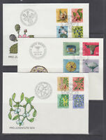Switzerland Sc B430-B478 FDC. 1975-80 semi postals, 12 cplt sets on 12 FDCs