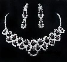Bridal/wedding crystal/diamonte collar conjunto ** 177 ** Deep Purple/black & Transparente