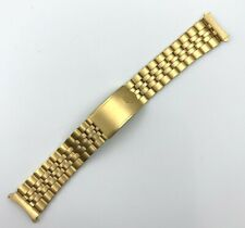 Vintage Pulsar Watch Band Gold Tone Stainless Steel Wristwatch 030MC