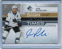 19/20 SP Authentic Sign of the Times 2000s Joe Pavelski 1:946 [San Jose Sharks]