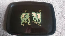 Frog party Couroc plate serving platter