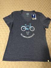Life Is Good Villanova Wildcats Womens V Neck T Shirt Large Nwt Bicycle