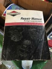 briggs and stratton factory repair maual  single cylinder ohv