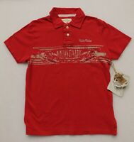 DITCH PLAINS MEN'S RED SHORT SLEEVED POLO SHIRT MONTAUK NEW