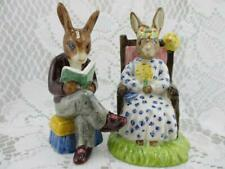 Vintage Royal Doulton Bunnykins~Grampa's Story & Queen of May Figurines