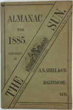 Baltimore Sun Maryland Almanac 1885