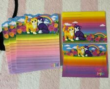 Vintage Lisa Frank Kittens Rainbow Roses Stationery Paper & Envelopes Set