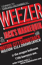WEEZER/JACK'S MANNEQUIN/MOTION CITY SOUNDTRACK 2009 CHICAGO CONCERT TOUR POSTER