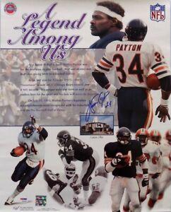 "Chicago LEGEND Walter Payton Signed Bears ""A Legend Among Us"" 16x20 Photo PSALOA"