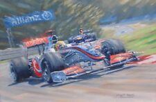 Lewis Hamilton F1 McLaren Hungarian Grand Prix Motor Sport Racing Car Art Print