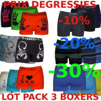 Lot Pack 3 Boxers Microfibre S M L XL XXL PRIX DEGRESSIFS -10%-20%-30%